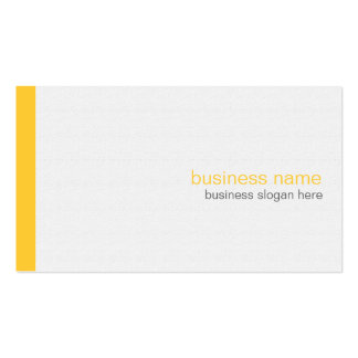 Plain Elegant Modern Simple Yellow Stripe on White Double-Sided Standard Business Cards (Pack Of 100)