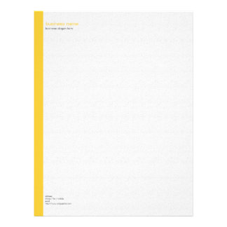 Plain Elegant Modern Simple Yellow Stripe on White Letterhead