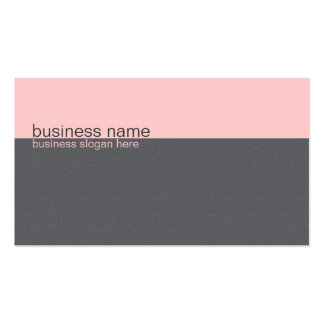Plain Elegant Simple Light Pink / Grey Stripe Business Card