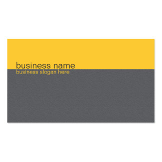 Plain Elegant Simple Yellow / Grey Stripe Business Card Template