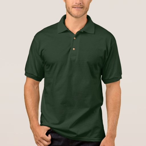 Plain Forest Green Jersey Polo Shirt For Men Zazzle