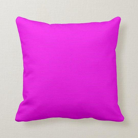 Plain Fuchsia (Pink) background Throw Pillow Zazzle.com