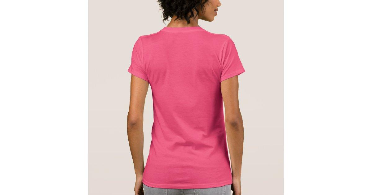 Plain fuchsia pink t-shirt for women, ladies | Zazzle