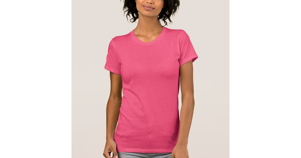 Plain fuchsia pink t-shirt for women, ladies | Zazzle.com