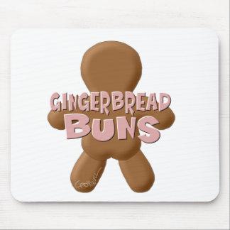 Plain Gingerbread Buns Mouse Pad
