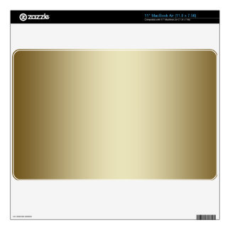 "Plain Gold Metal Effect Printed Background Skin 11"" MacBook Air Skins"