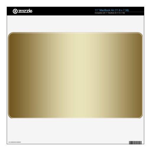 "Plain Gold Metal Effect Printed Background Skin 11"" MacBook Air Skins"