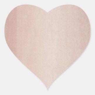Plain Golden Brown Orange Heart Sticker