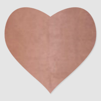 Plain Golden Copper Brown Orange Heart Sticker