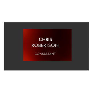 Plain Gray Dark Red Attractive Business Card