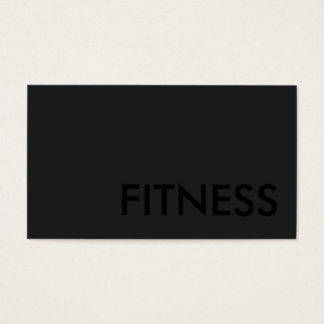 Plain Gray Fitness Modern Black Out Business Card