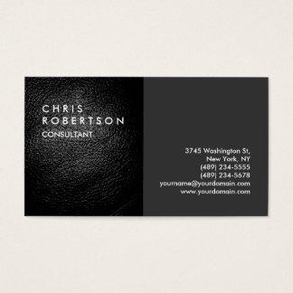 Plain Gray Leather Modern Creative Business Card