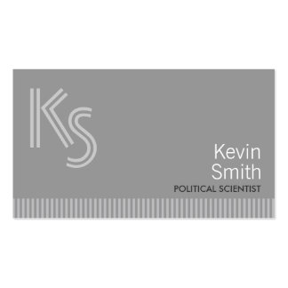 Plain Gray Political Scientist Business Card