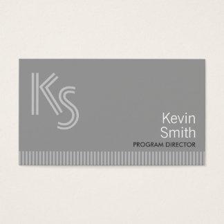 Plain Gray Program Director Business Card