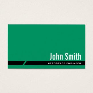 Plain Green Aerospace Engineer Business Card