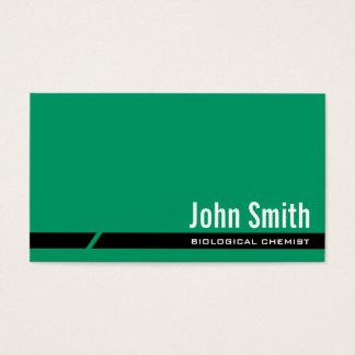Plain Green Biological Chemist Business Card