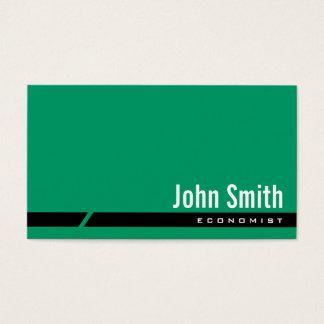 Plain Green Black Stripe Economist Business Card