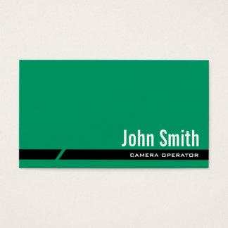 Plain Green Camera Operator Business Card