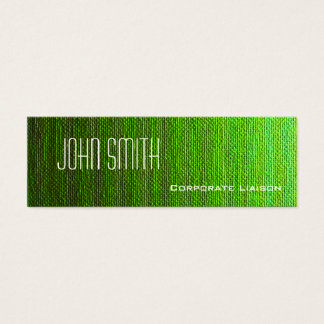 Plain Green Canvas Slim Modern Business Cards