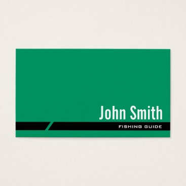 Professional Business Plain Green Fishing Guide Business Card