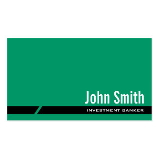 Plain Green Investment Banker Business Card