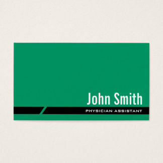 Plain Green Physician Assistant Business Card