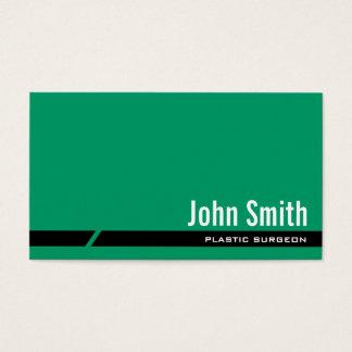 Plain Green Plastic Surgeon Business Card