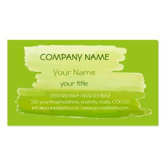Plain Green Professional Elegant Modern Lime Business Card Templates