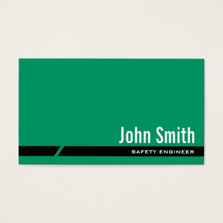 Plain Green Safety Engineer Business Card