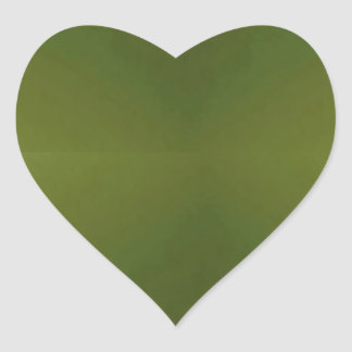 Plain  GREEN  shades  Write with light color pen Heart Sticker