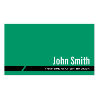 Plain Green Transportation Broker Business Card