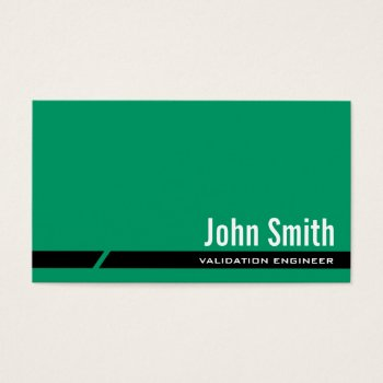Browse products at zazzle with the theme engineering business cards plain green validation engineer business card reheart Gallery