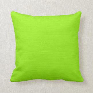 Plain Green Yellow (Lime) Background Pillow