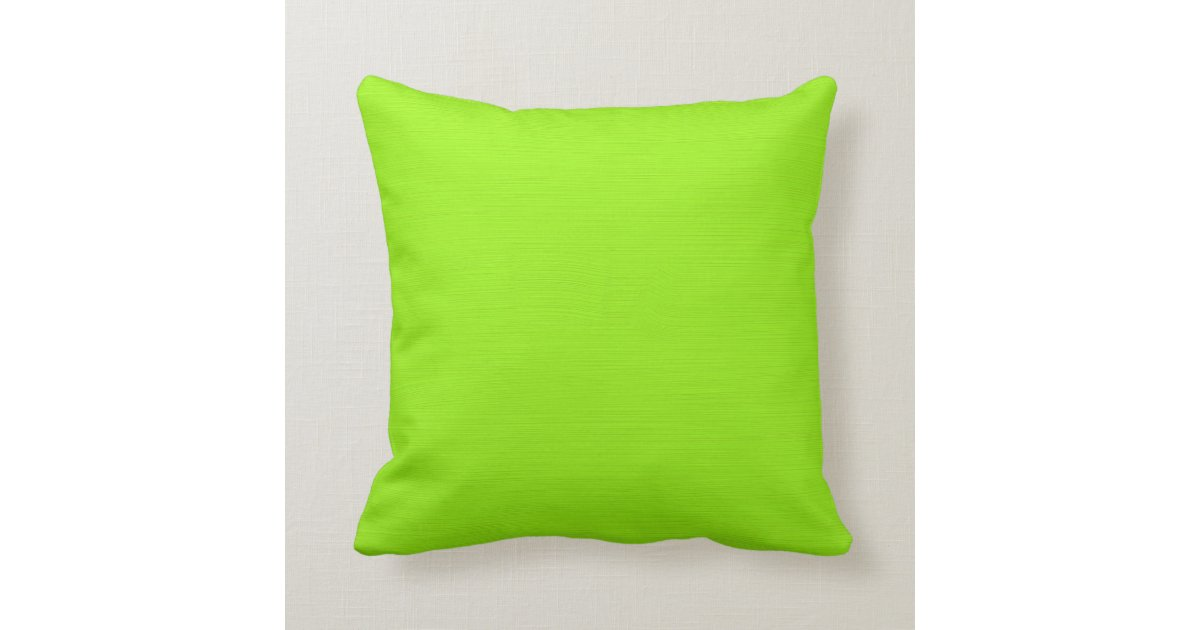 Plain Green Yellow Lime Background Throw Pillow Zazzle Com