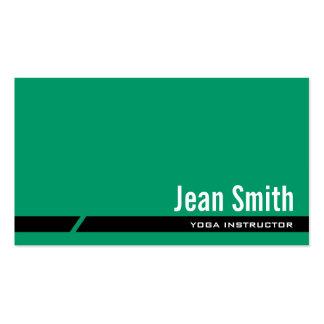 Plain Green Yoga instructor Business Card