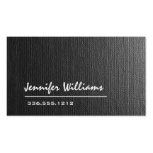 Plain Grey Canvas Professional Business Card Business Cards