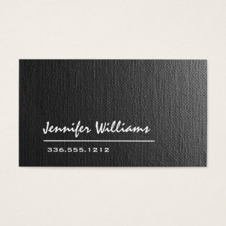 Plain Grey Canvas Professional Business Card