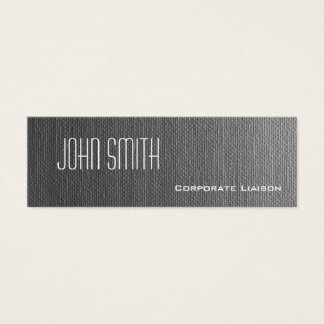 Plain Grey Canvas Slim Modern Business Cards
