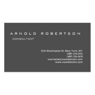 Plain Grey Stylish Professional Business Card