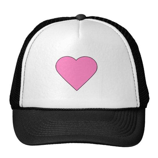 Plain heart trucker hat