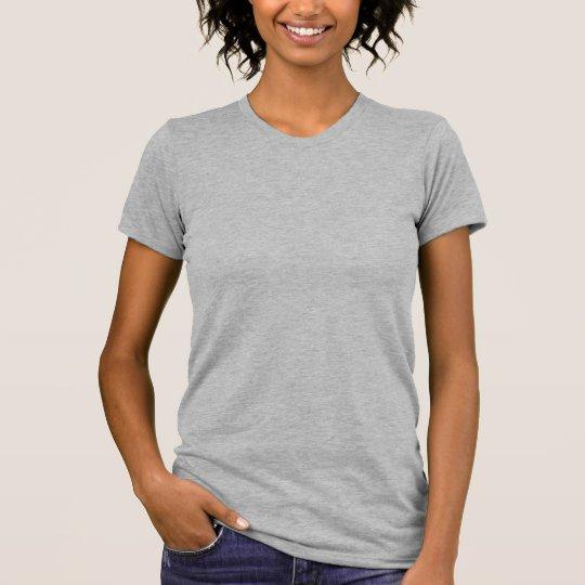 Plain heather grey t-shirt for women, ladies