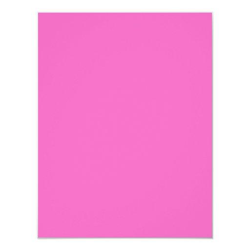 Plain Hot Pink Background. Card