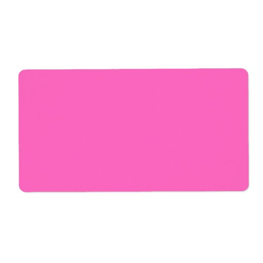Plain Hot Pink Background. Personalized Shipping Labels