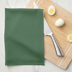 Plain Hunter Green Towels