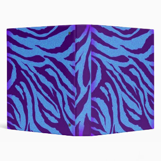 Plain Indigo/Blue Zebra Print Binder