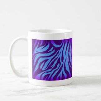Plain Indigo/Blue Zebra Print Mug