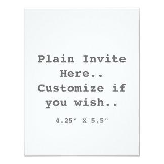 Plain Invite.. 4.25x5.5 Paper Invitation Card