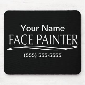 Plain Jain-Face Painter Mouse Pad