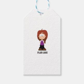 plain jane brunnette gift tags