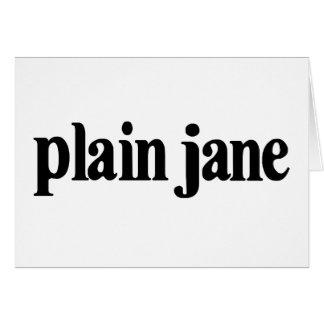 Plain Jane Card
